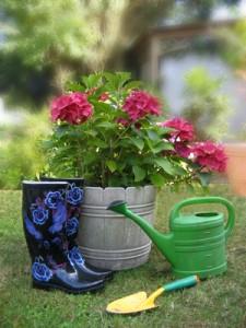 Ein Garten verlangt viel Gartenarbeit.